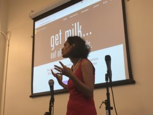 Dr. Payal Bhandar, family physician and mother of two, spoke powerfully about the damaging effects of milk on children's health..